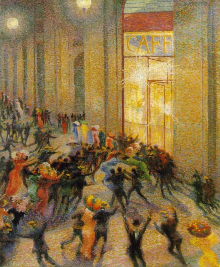 Umberto Boccioni's Rissa in Galleria, 1910